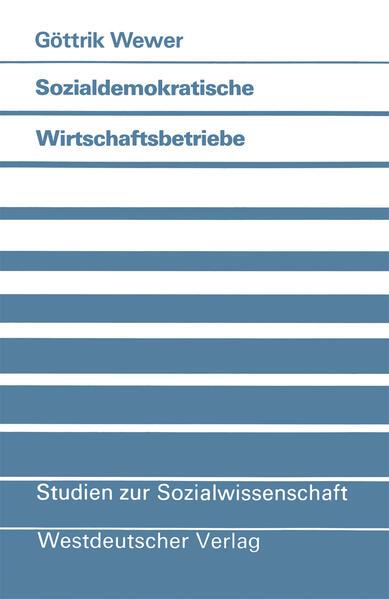 Sozialdemokratische Wirtschaftsbetriebe - Coverbild
