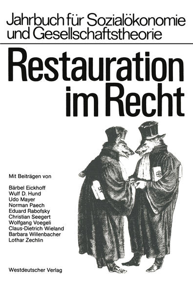 Restauration im Recht - Coverbild