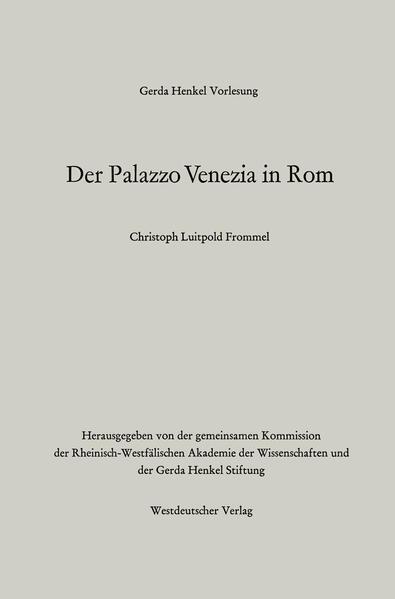 Der Palazzo Venezia in Rom - Coverbild