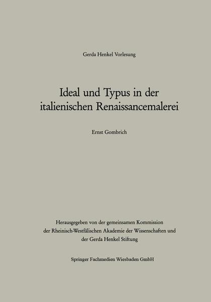 Ideal und Typus in der italienischen Renaissancemalerei - Coverbild