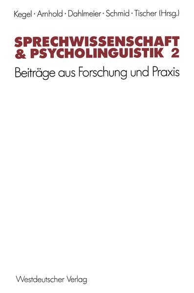 Sprechwissenschaft & Psycholinguistik 2 - Coverbild