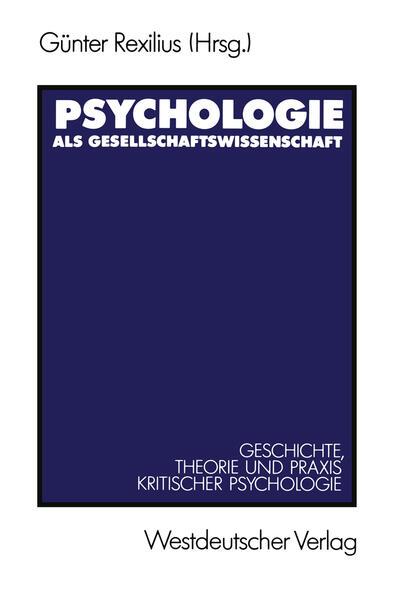 Psychologie als Gesellschaftswissenschaft - Coverbild
