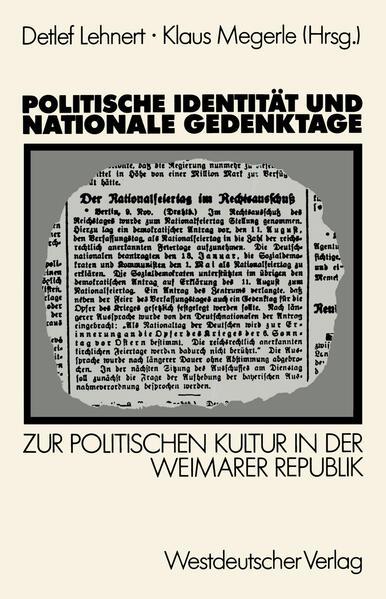 Politische Identität und nationale Gedenktage - Coverbild