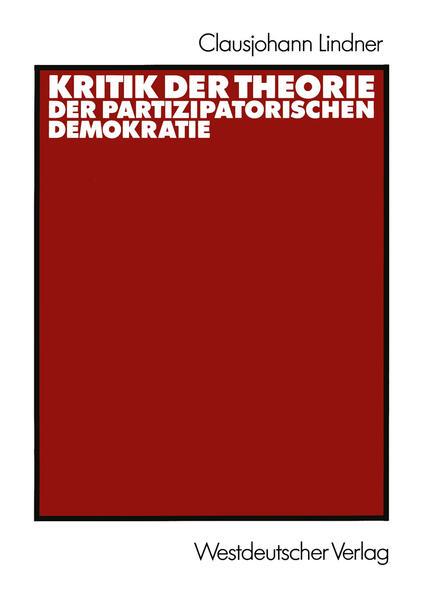 Kritik der Theorie der partizipatorischen Demokratie - Coverbild
