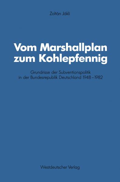 Vom Marshallplan zum Kohlepfennig - Coverbild
