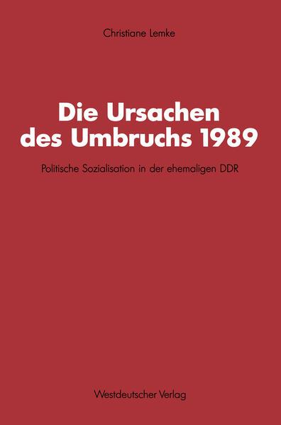 Die Ursachen des Umbruchs 1989 - Coverbild