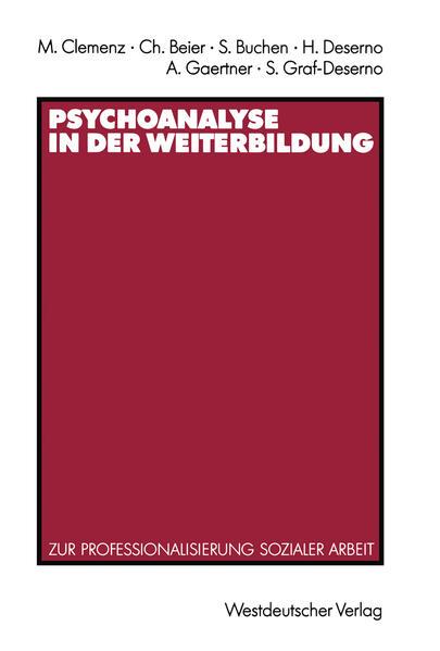 Psychoanalyse in der Weiterbildung - Coverbild