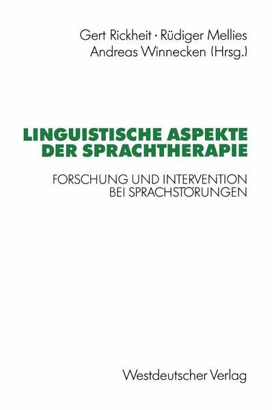 Linguistische Aspekte der Sprachtherapie - Coverbild