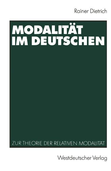 Modalität im Deutschen - Coverbild