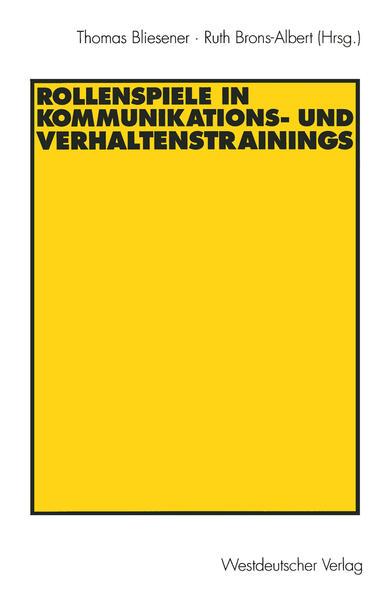 Rollenspiele in Kommunikations- und Verhaltenstrainings - Coverbild