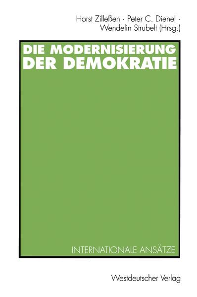Die Modernisierung der Demokratie - Coverbild