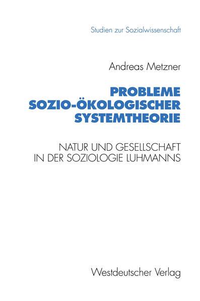 Probleme sozio-ökologischer Systemtheorie - Coverbild