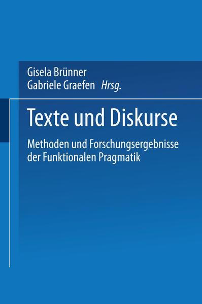 Texte und Diskurse - Coverbild