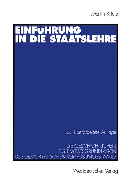 Einführung in die Staatslehre - Coverbild