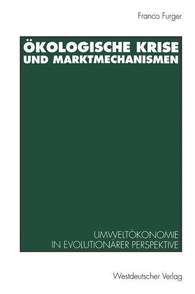 Ökologische Krise und Marktmechanismen - Coverbild