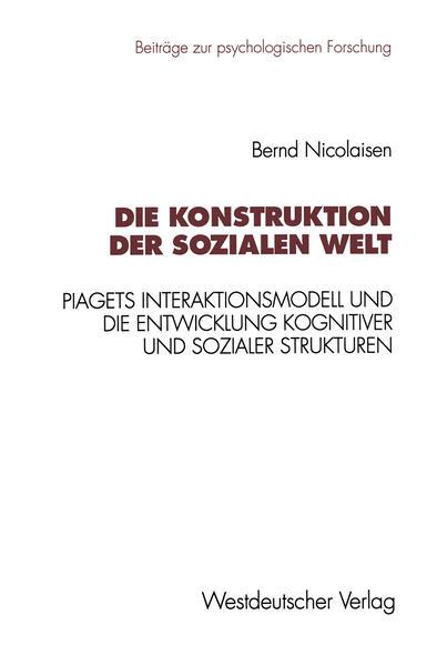 Die Konstruktion der sozialen Welt - Coverbild