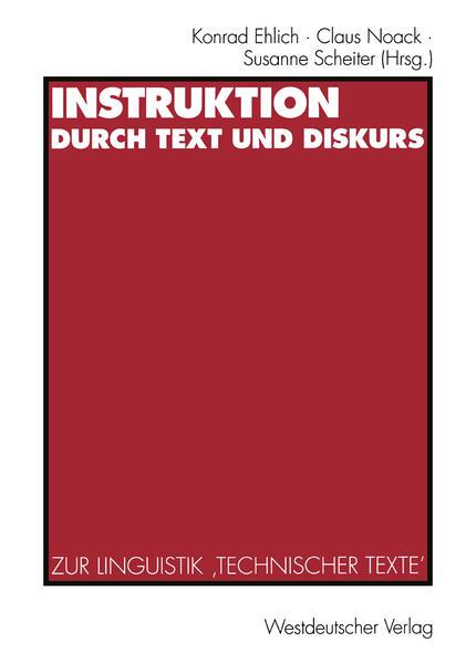 Instruktion durch Text und Diskurs - Coverbild