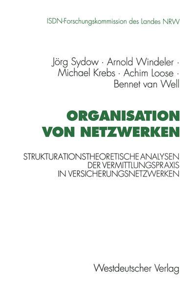 Organisation von Netzwerken - Coverbild