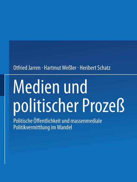 Medien und politischer Prozeß - Coverbild