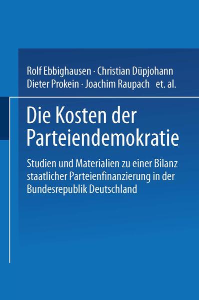 Die Kosten der Parteiendemokratie - Coverbild