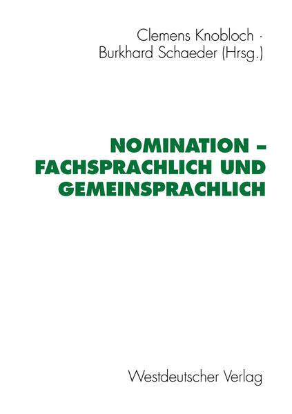 Nomination — fachsprachlich und gemeinsprachlich - Coverbild