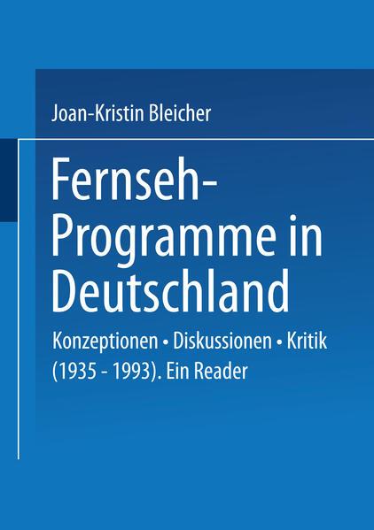 Fernseh-Programme in Deutschland - Coverbild