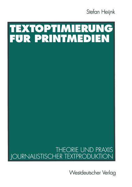 Textoptimierung für Printmedien - Coverbild