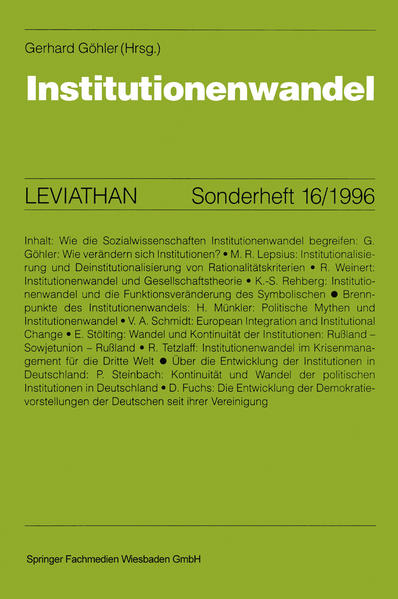Institutionenwandel - Coverbild