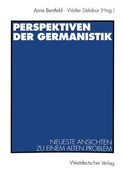 Perspektiven der Germanistik - Coverbild