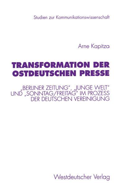 Transformation der ostdeutschen Presse - Coverbild
