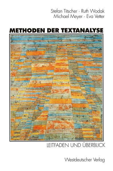 Methoden der Textanalyse - Coverbild