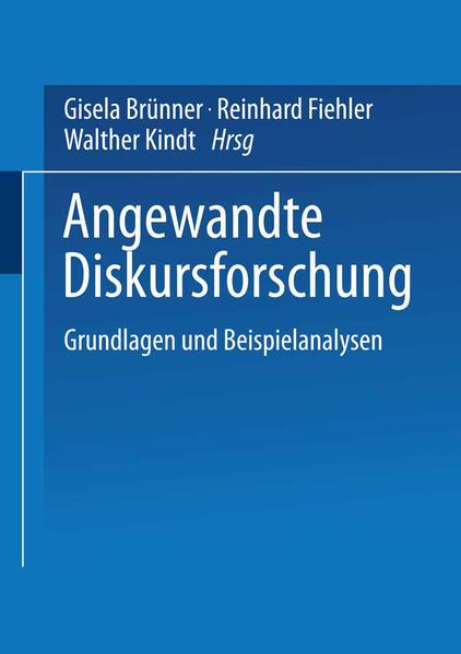 Angewandte Diskursforschung - Coverbild
