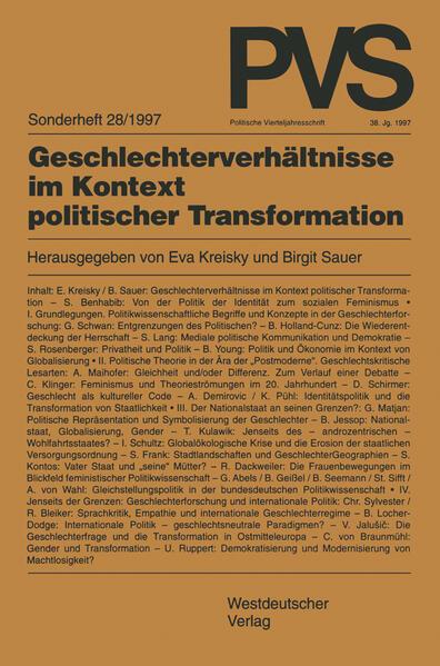 Geschlechterverhältnisse im Kontext politischer Transformation - Coverbild