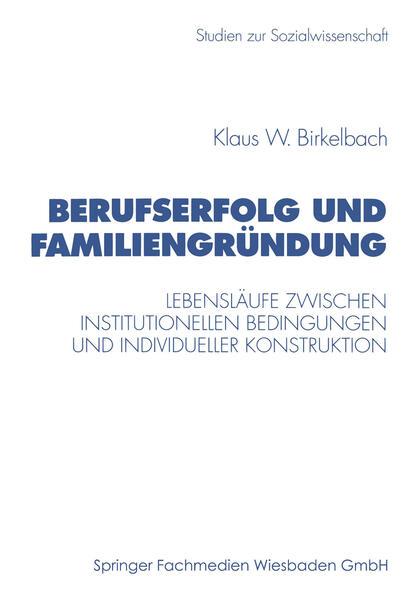 Berufserfolg und Familiengründung - Coverbild