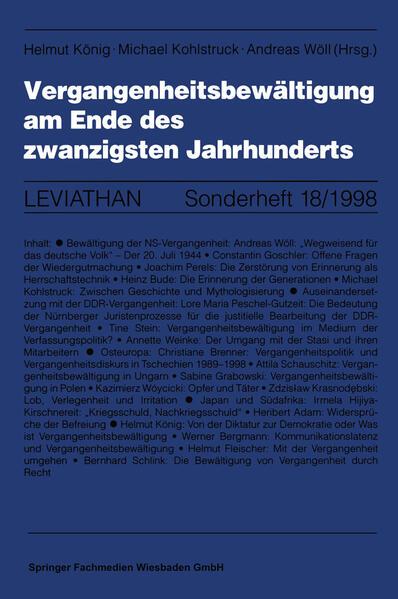 Vergangenheitsbewältigung am Ende des zwanzigsten Jahrhunderts - Coverbild