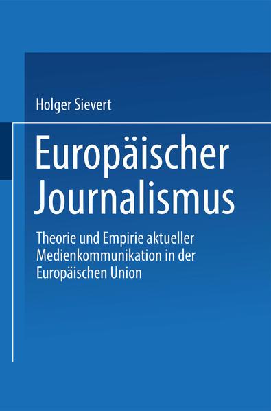Europäischer Journalismus - Coverbild