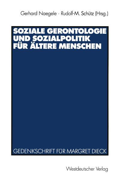 Soziale Gerontologie und Sozialpolitik für ältere Menschen - Coverbild