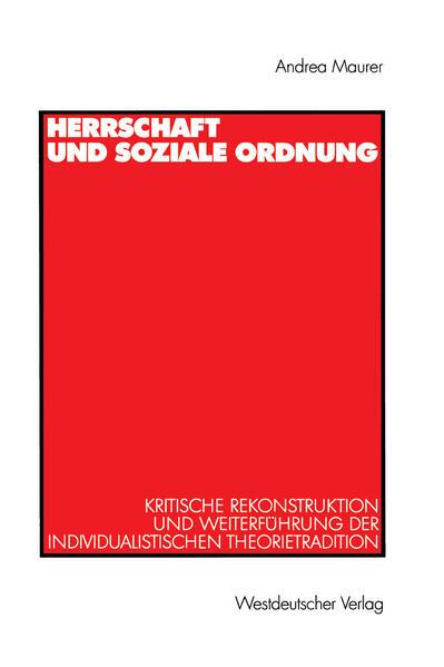 Herrschaft und soziale Ordnung - Coverbild