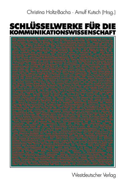 Schlüsselwerke für die Kommunikationswissenschaft - Coverbild