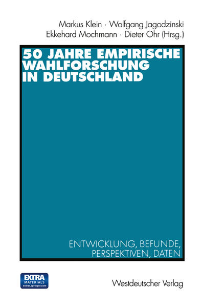 50 Jahre Empirische Wahlforschung in Deutschland - Coverbild