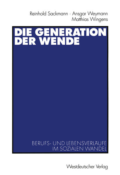 Die Generation der Wende - Coverbild