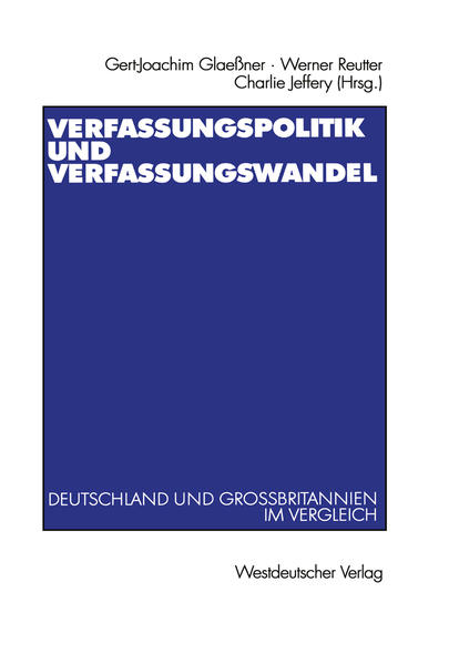 Verfassungspolitik und Verfassungswandel - Coverbild