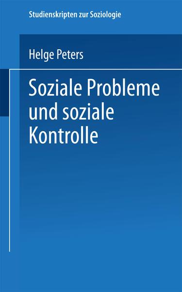 Soziale Probleme und soziale Kontrolle - Coverbild