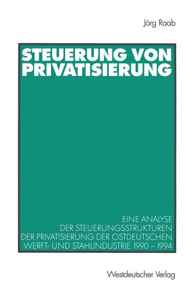 Steuerung von Privatisierung - Coverbild