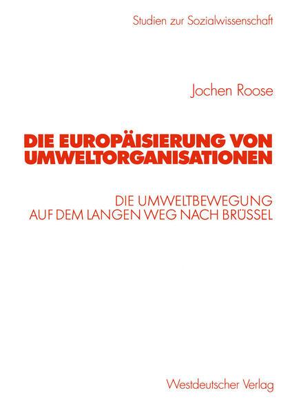 Die Europäisierung von Umweltorganisationen - Coverbild