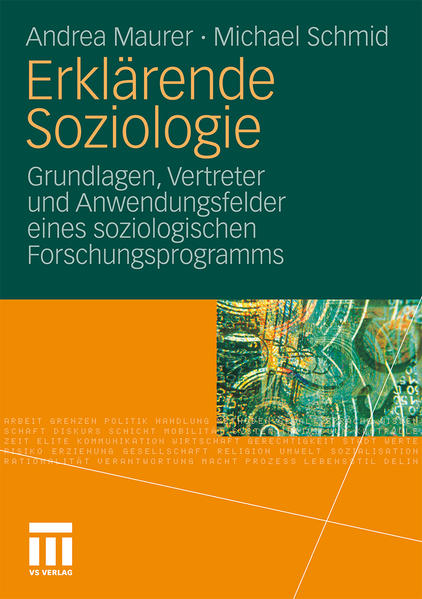 Erklärende Soziologie - Coverbild