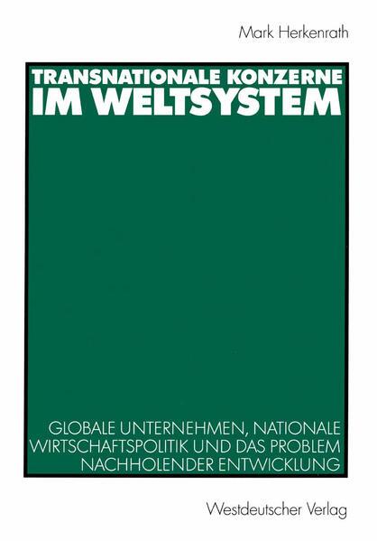 Transnationale Konzerne im Weltsystem - Coverbild