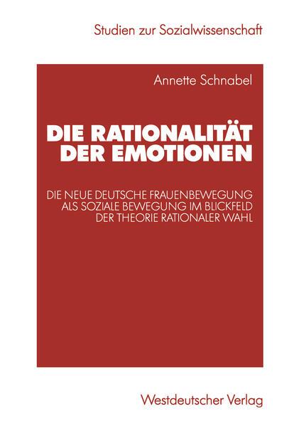 Die Rationalität der Emotionen - Coverbild