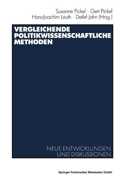 Vergleichende politikwissenschaftliche Methoden - Coverbild