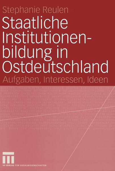 Staatliche Institutionenbildung in Ostdeutschland - Coverbild